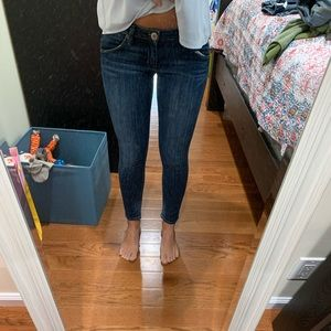 Hudson skinny jeans cropped at ankle